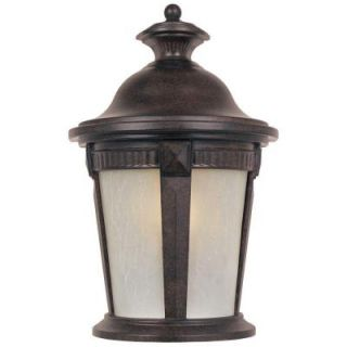 Hampton Bay Wall Mount Outdoor Mystic Bronze Pocket Lantern HD473818