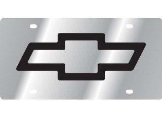 Chevrolet Bowtie Logo Stainless Steel Metal Front Vanity License Plate #357 Automotive