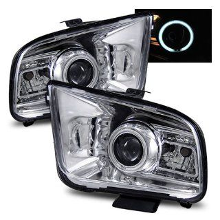 Ford Mustang Chrome CCFL Halo Projector Headlights G2   Fits Base & GT Automotive