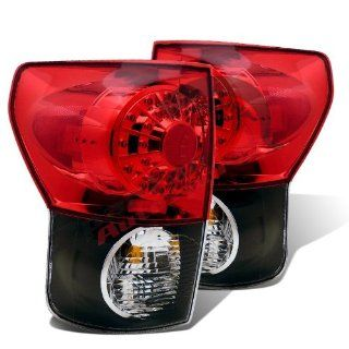 2007 2008 2009 2010 2011 TOYOTA TUNDRA L.E.D TAIL LIGHT BLACK HOUSING RED/CLEAR LENS Automotive