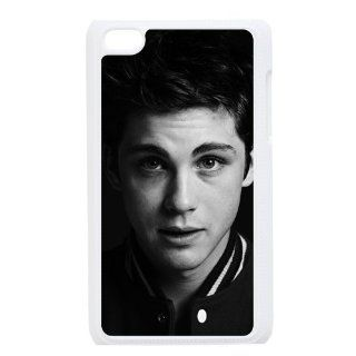 Logan Lerman iPod 4 Case, iPod Touch Case, iTouch Hard Protective Case   Black&White   Retailing Packing Cell Phones & Accessories