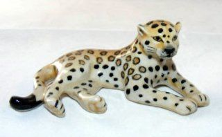 JAGUAR Lays Jungle CAT FIGURINE NEW Porcelain KLIMA L834B   Collectible Figurines