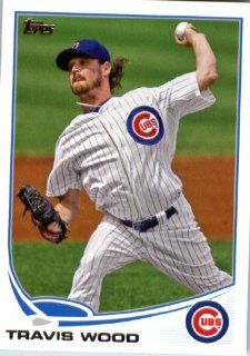 2013 Topps MLB Trading Card (In Protective Screwdown Case) # 391 Travis Wood Chicago Cubs Sports Collectibles