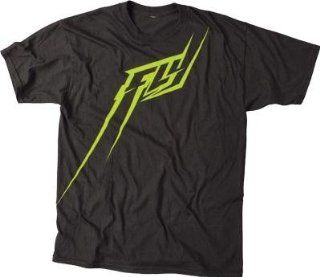 Fly Racing FLYght T Shirt , Distinct Name Black/Green, Primary Color Black, Size XL, Gender Mens/Unisex 352 0320X Automotive