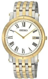 Seiko Men's SKP364 Classic Two Tone Stainless Steel Roman Numeral Watch Watches