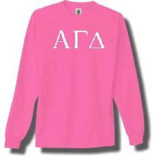 Alpha Gamma Delta Long Sleeve T shirt (Size Large)(Neon Pink)  Other Products