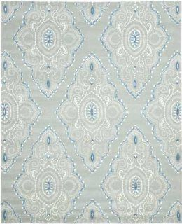 Safavieh WYD372A Wyndham Collection Area Rug, 5 Feet by 8 Feet, Blue   Blue Pattern