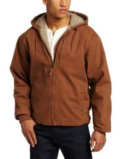 Key Apparel Men's Big Tall Premium Berber Lined Hooded Jacket, Saddle, Large Tall Clothing