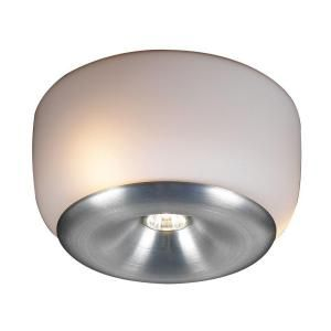 PLC Lighting 4 Light Ceiling Aluminum Semi Flush Mount with Matte Opal Glass DISCONTINUED CLI HD76033AL