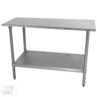 "Advance Tabco TT 305 60"" Work Table   Galvanized Frame, 30"" W, 18 ga 430 Stainless Top, Each  Utility Tables"