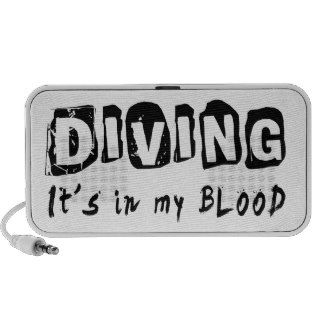 Diving It's in my blood Notebook Speaker