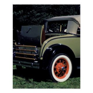 1931 Ford convertible. Shows 'rumble seat' and Poster