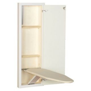 Household Essentials StowAway In Wall Ironing Board   White