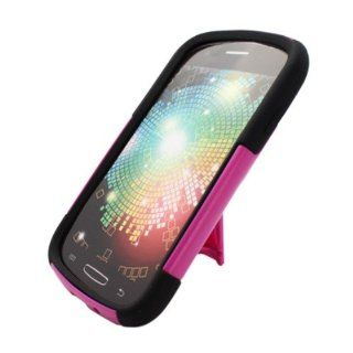 Aimo SAMI437PCMSK021S Durable Rugged Hybrid Case for Samsung Galaxy Express i437   1 Pack   Retail Packaging   Black/Hot Pink Cell Phones & Accessories