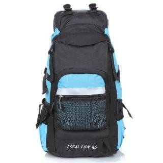 Fashion New Sports and Leisure Mountaineering Bags 394 Light Blue Backpack 45l  Hiking Daypacks  Sports & Outdoors