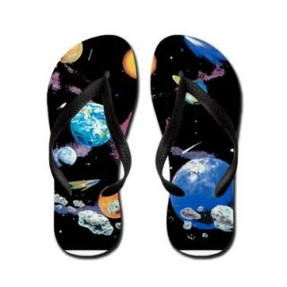 Artsmith, Inc. Kid's Flip Flops (Sandals) Solar System And Asteroids Shoes