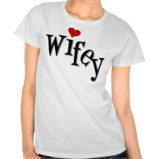 Wifey With Funky Red Heart Tee Shirts