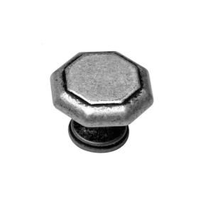 Home Decorators Collection 2 in. Octagon Cabinet Knob in Antique Silver DH43 124