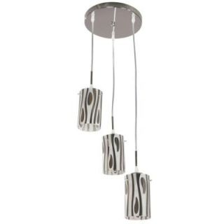 Hampton Bay Armalinda 3 Light Chrome Chandelier Pendant 03119 4