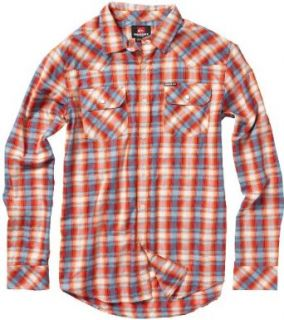 Quiksilver Flash Surf Long Sleeve Button Up Shirt   Chili Pepper (Small) at  Men�s Clothing store