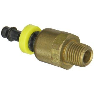 "Dixon Valve D444SL Brass/Steel Push On Ball Swivel, 1/4"" Push On Hose Barbed x 1/4"" NPT Male Push On Hose Fittings"