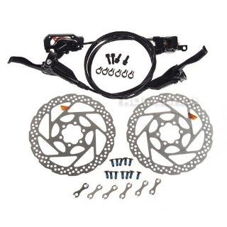 SHIMANO BR M446 BL M445 Hydraulic Brake Front & Rear Black RT56 160mm Rotor  Bike Disc Brake Sets  Sports & Outdoors