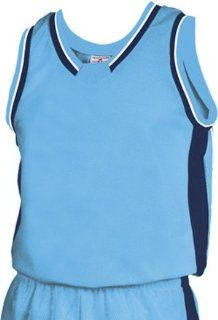 Teamwork Jammer Series Custom Basketball Jerseys 447 COLUMBIA BLUE/NAVY/WHITE AS  Sports & Outdoors