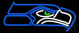 "Seattle Seahawks NFL Outdoor Neon Sign 10"" Tall x 24"" Wide x 3.5"" Deep  Business And Store Signs"