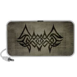 Tribal Tattoo Bat Wings Notebook Speaker