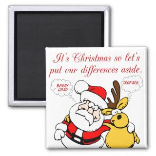 Christmas Humor Stop Fighting & Reconcile Funny Fridge Magnets