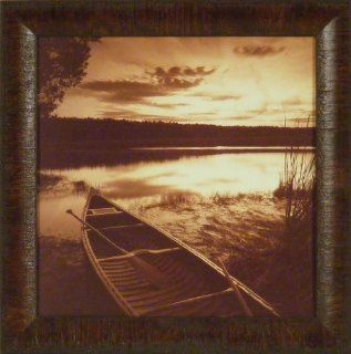 Dawn's Promise by Mike Sleeper 17x17 Canoe Lake Sunrise Sepia Photography Framed Art Picture   Prints