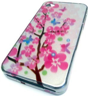 Apple iPhone 4 4S 4G Blossom Tree Pink Daisy Smooth Design Case Cover Skin Hard Protector Cell Phones & Accessories