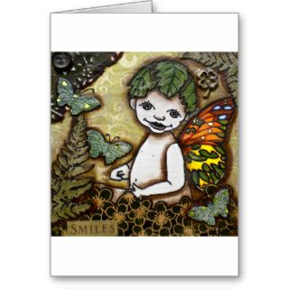 BABY BUTTERFLY SMILES GREETING CARDS