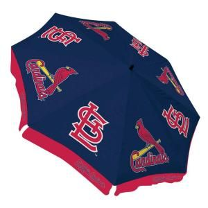 Team Sports America St. Louis Cardinals 9 ft. Patio Umbrella in Blue DISCONTINUED 0117701