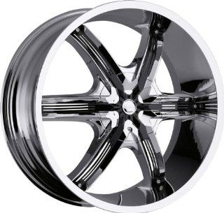 MILANNI   460 bel air 6   26 Inch Rim x 9.5   (5x4.5/5x4.75) Offset (15) Wheel Finish   chrome with black inserts Automotive