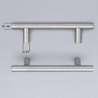 "Omnia 9464/448 US32D Brushed Stainless Steel Cabinet Hardware Stainless Steel Bar Pull 17 5/8""   Cabinet And Furniture Pulls"