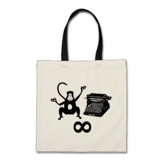 Funny Writer Monkey Typewriter Infinity Canvas Bag