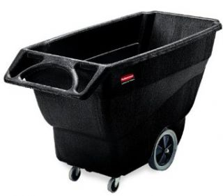 "Rubbermaid Commercial HDPE Box Cart with Steering Wheel, Black, 1000 lbs Load Capacity, 38"" Height, 64 1/2"" Length x 30 1/4"" Width Hand Trucks"