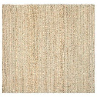 Safavieh NF453A Natural Fibers Collection Sisal Square Area Rug, 6 Feet, Natural and Green