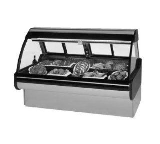 Federal Industries MCG 454 DM SS 50 in Curved Thermopane Glass Refrigerated Deli Case, Stainless, Each Appliances