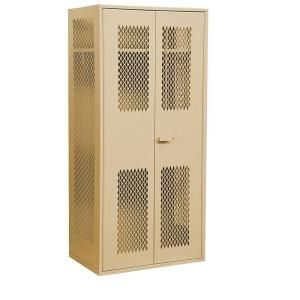 Salsbury Industries 7150 Series 36 in. W x 78 in. H x 24 in. D Military TA 50 Storage Cabinet in Tan 7150TAN