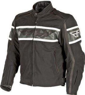 Fly Racing Fifty5 Jacket , Size Lg, Apparel Material Leather, Primary Color Black, Gender Mens/Unisex 477 2010 3 Automotive