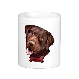 Chocolate labrador retriever dog mugs