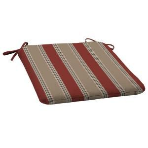 Hampton Bay Chili Stripe Outdoor Seat Pad V547060B 9D8