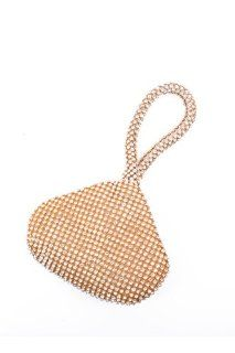 * Evening bag with stone * 6W*4H*2D	 * Straw, mixed metal STYLE NO.	PPC2237gd gold rhinestone fastener chain bag handbag shoulder hand tote purs purse woman girl lady teen HooNeeD  Cosmetic Tote Bags  Beauty