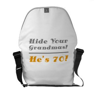 Funny 70th Birthday Gifts For Him Messenger Bag