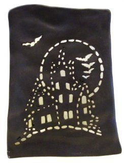 Haunted House Halloween Votive & Tealight Luminary Candle Holder