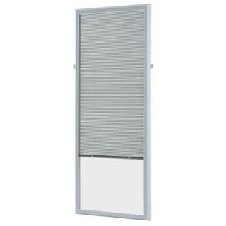 ODL White Cordless Add On Enclosed Aluminum Blinds with 1/2 in. Slats, for 20 in. Wide x 64 in. Length Door Windows ADDON2064E