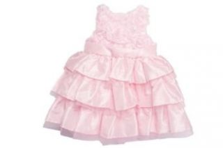 Mud Pie Baby Girl Pink Silk Dress Clothing
