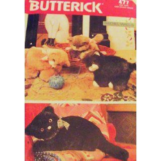 Butterick 6275 or 477 Stuffed Animals Kittens Cat Toy Doll Pattern Butterick Pattern Service Books